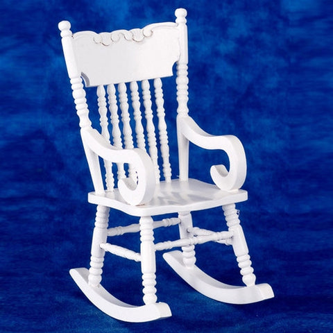 Rocking Chair,Victorian, White