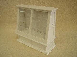 White Angled Display Case