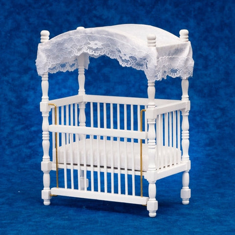 Canopy Crib, White