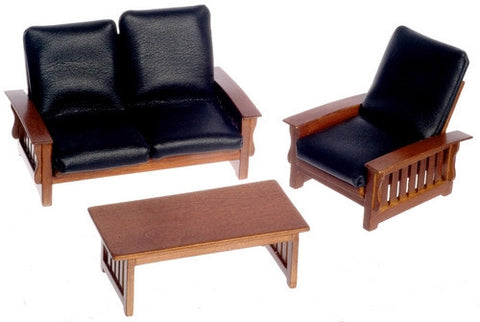 Mission Style Sofa, Chair, Coffee Table OUT OF STOCK