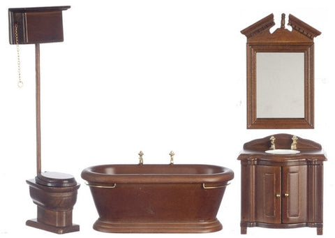 Old Fashioned Bath Set, New Walnut BACK IN STOCK
