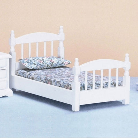 Single Bed, Simple and Sturdy, White ON SALE!