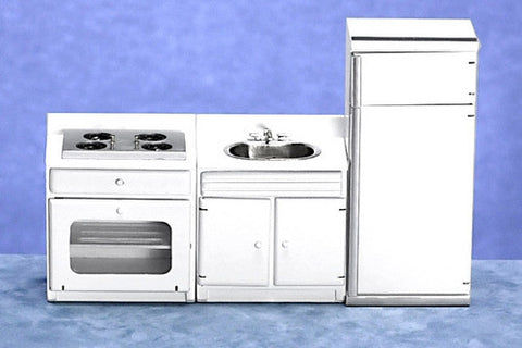Three Piece White Kitchen