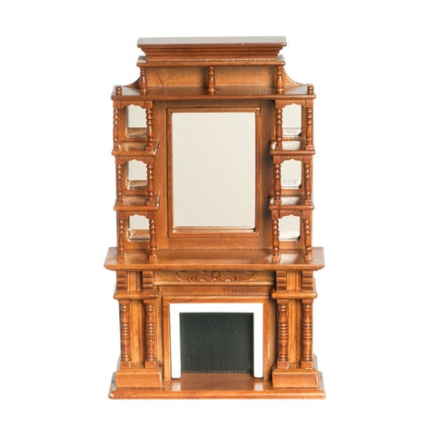 Victorian Fireplace, Walnut
