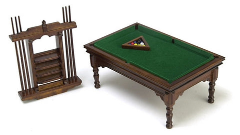 Billiard Table Set, Walnut Finish