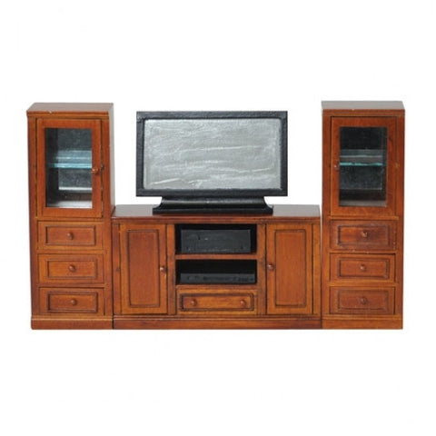 Entertainment Center, Walnut Finish