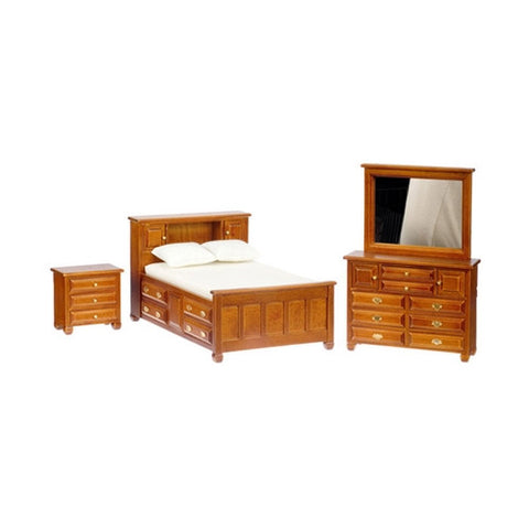 Walnut Double Bedroom Set