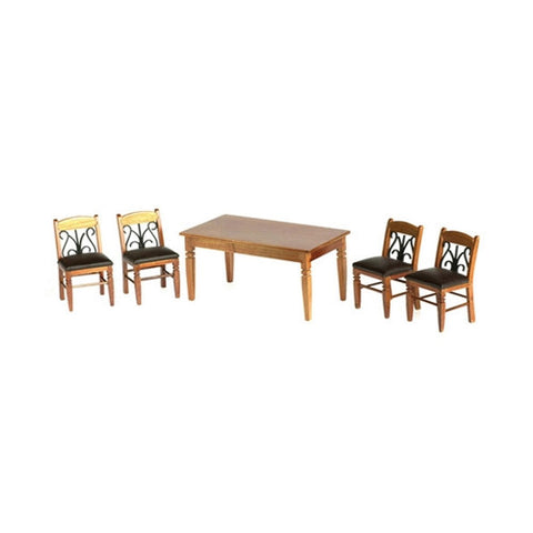 Dining Room Set, Pecan and Leather