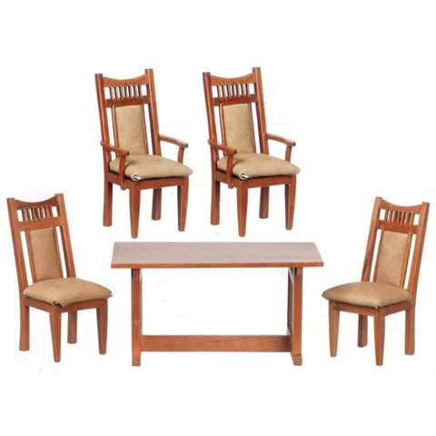Dining Room Set, Five Piece, Pecan Finish