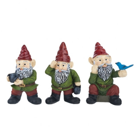 Miniature Gnomes, Set of Three