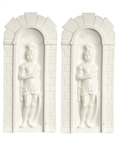 PAIR ROMAN SOLDIER NICHES