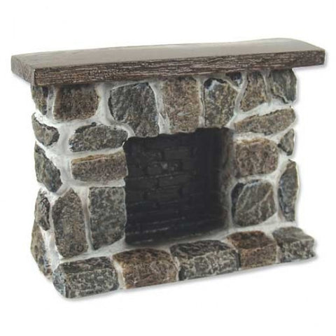 Field Stone Fireplace, Raised Hearth