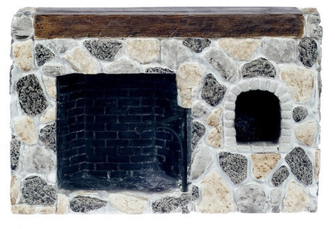 Fireplace, Walk-In, Field Stone