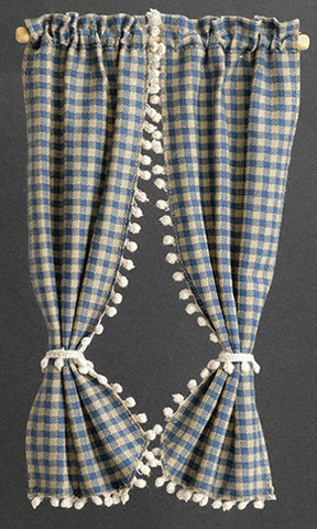 Country Curtains, 7 inch, Blue Check