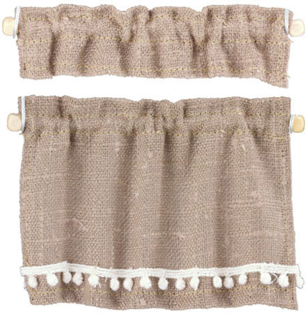 Cottage Curtains, Burlap