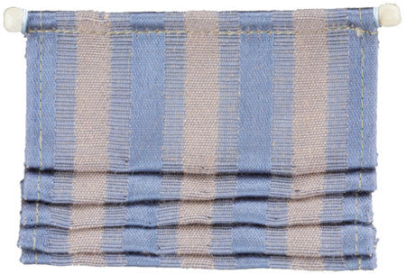 Roman Window Shade, Blue and Beige Stripe