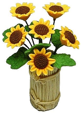 Sunflowers in a Country Planter