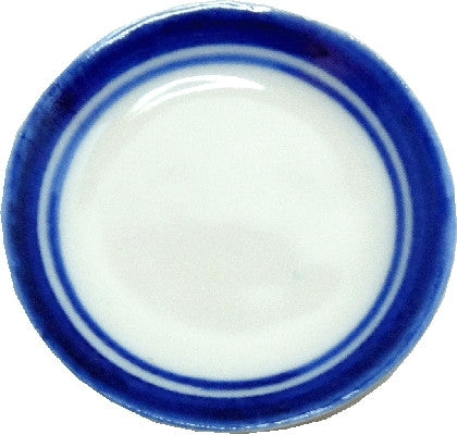 Large Ceramic Platter W/Blue trim
