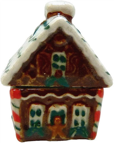 Dollhouse Miniature Ceramic Christmas Cookie jar