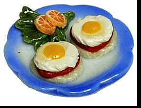 Plate with Eggs Benedict