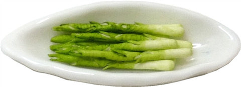 Asparagus on Elongated Plate