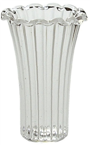 Ribbed Crystal Vase