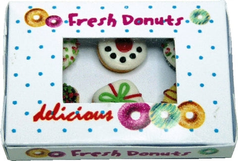 XMAS Donuts in Donut Box
