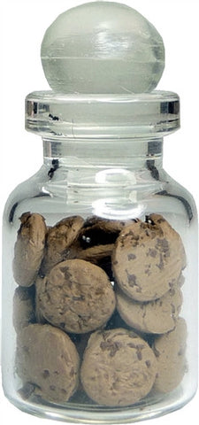 Chocolate Chip Cookies in Glass Jar