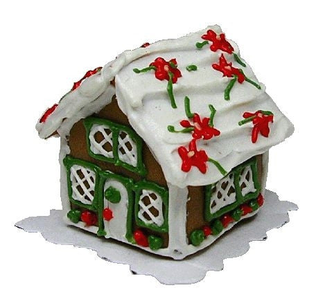 Gingerbread House - Poinsettia Roo