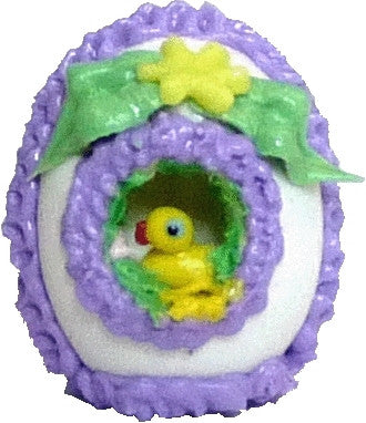"Panorama Egg - Purple Trim ""Chick"""