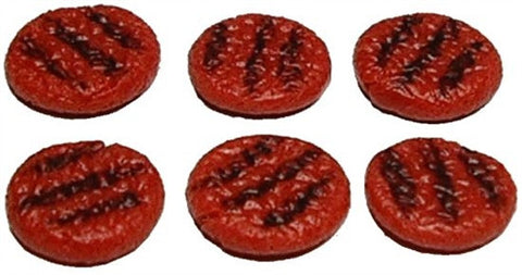 Grilled Hamburger Patties -Set of 6