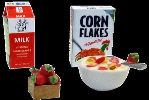 Cornflakes and Strawberries Cereal Set