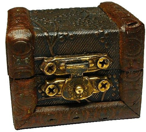 Antique Leather Clad Chest