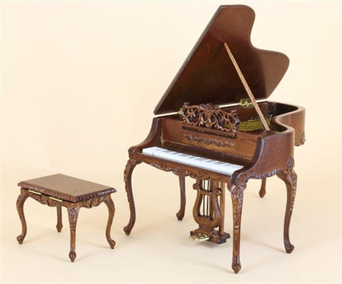 Bespaq Baby Grande Piano, New Walnut, Two Piece