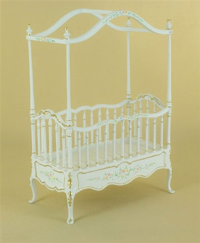 Sweet Home Canopy Crib, White Floral