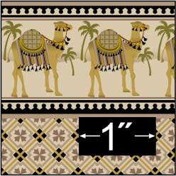 Brodnax Prints Camel Caravan Wallpaper
