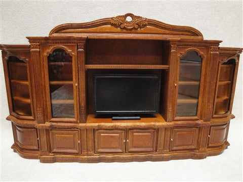 Bespaq Entertainment Center, New Walnut Finish