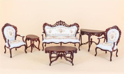 Charlotte Aubusson Parlour Suite Mahogany ON SPECIAL
