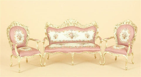 Charlotte Aubusson, Pink and Gold Three Piece Set