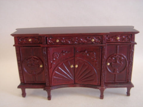 Buffet with shell carving