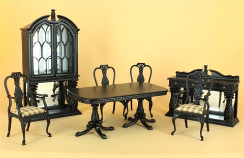 Martinique Dining Room Set, Ebony