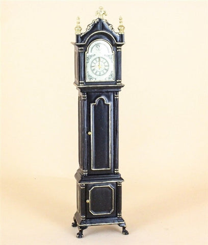 Grandfather Clock, Black and Gold