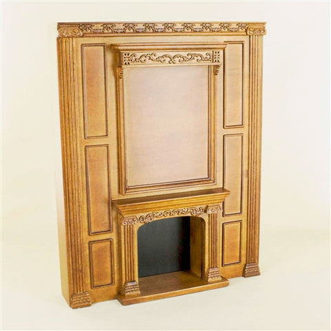 Manor Fireplace Unit, New Walnut
