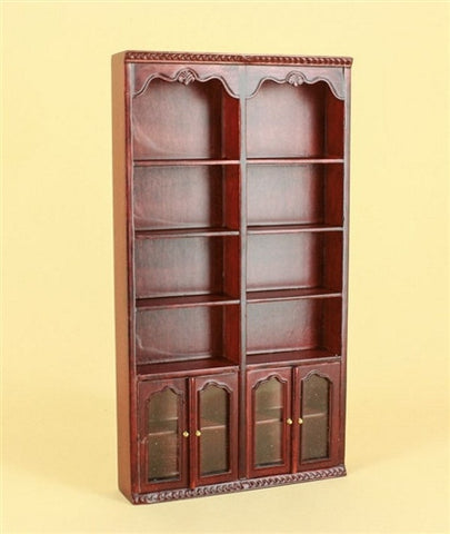 Bespaq Fitzgerald Library Double Book Case, Mahogany OUT OF STOCK