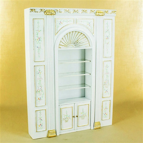 Manor White Floral Shelf Unit