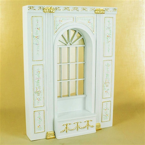 Manor White Floral Window Seat Unit