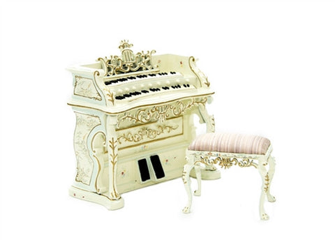 Fantasy Lyre Dauphine Hand Painted Bombe Organ