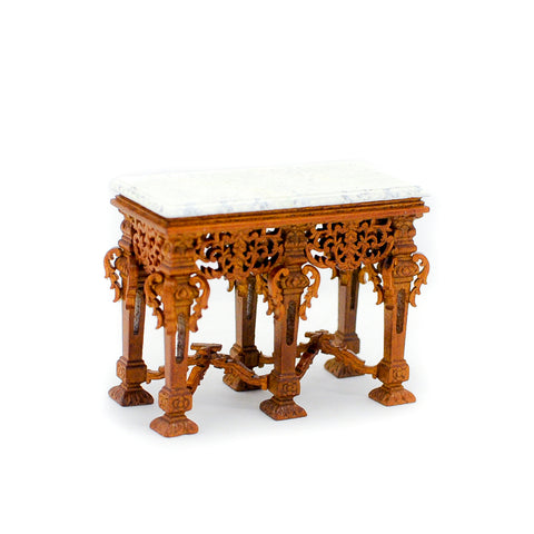 Grand Estate Console, Walnut with Marble Top