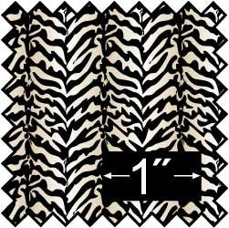 Silk Fabric, Zebra