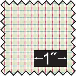 Silk Fabric, Cherry Plaid